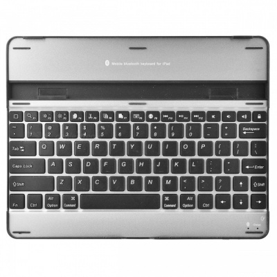 Universal Wireless Bluetooth v3.0 82-Key Keyboard for Ipad 4 / 3 / 2 - Black + Silver