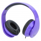 iLeAD MP3 Headband Foldable Headphone - Purple + Black