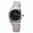 WOERDA 3010G Men's Stainless Steel Self-winding Mechanism Wrist Watch w/ Calendar - Silver + Black