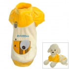 CG13015 Cute Bee Pattern Cotton Pet Apparel Clothes for Pet Dog - Yellow + White (Size M)