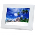 "12"" TFT Digital Picture Photo Frame Album w/ SD Slot / Built-in Speaker - White + Transparent"