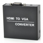 HDMI to VGA Converter w/ Audio Function - Black