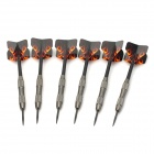 Flame Pattern Electronic Tungsten-Plated Iron + Plastic Darts - Silver + Black (6 PCS)