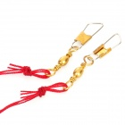 5-en-1 anti-enroulement hameçons pointus - Golden + Rouge (2 PCS)