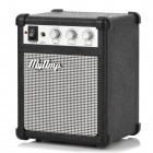 Retro Mini MP3 Speaker - Black + Silver (3 x AA)