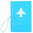 Travel PVC Certificate / Card / Passport Bag Holder - Blue
