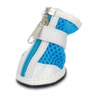 YC1303002Q Cute Grid Shape Walking Shoes for Pets Dogs - Blue + White + Black + Red (Size S / 4PCS)