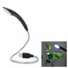 10-LED USB 2.0 Night Lamp w/ Touch Switch - Black