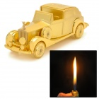 1851 Dragon Pattern Car Style Zinc Alloy Yellow Butane Jet Lighter - Golden