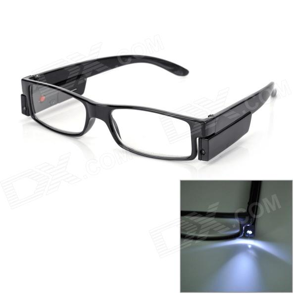 UV 400 Protection PC Frame Resin Lens Presbyopic / Reading Glasses - Black