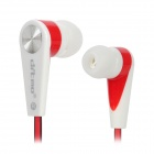 Ditmo DM-5630 Wired 3.5mm Plug In-Ear Stereo Earphones - White + Red + Black