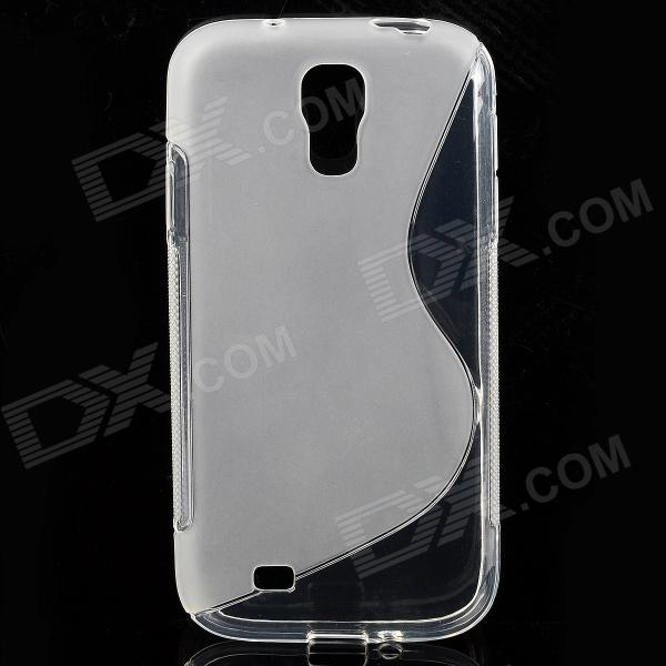 S-Line Style Protective TPU Soft Back Case for Samsung Galaxy S4 i9500 - Transparent cm001 3d skeleton pattern protective plastic back case for samsung galaxy s4
