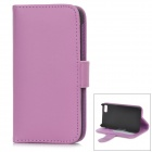 Protective PU Leather + Plastic Case for BlackBerry Z10 - Purple