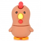 Cartoon Chicken Shape USB 2.0 Flash Driver - Brown + Red (16GB)