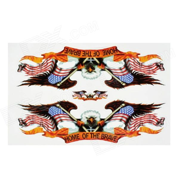 Decorative Eagle with US Flag Style Sticker for Motorcycle / Car - Blue + Red + Brown (3 PCS) camouflage custom car sticker bomb camo vinyl wrap car wrap with air release motorcycle sticker bomb sticker car body sticker