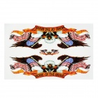 Decorative Eagle with US Flag Style Sticker for Motorcycle / Car - Blue + Red + Brown (3 PCS)