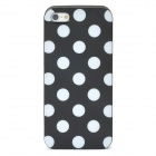 White Dot Pattern Protective TPU Case for Iphone 5 - Black
