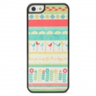 Flower and Grass Pattern Protective Shimmering Powder Plastic Case for Iphone 5