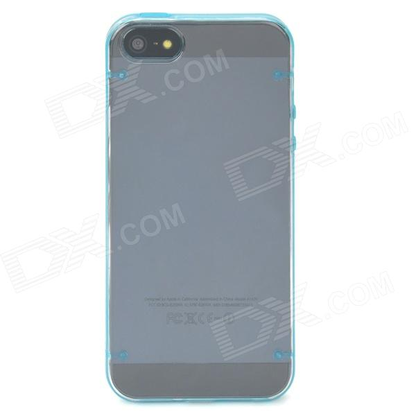 Protective Plastic Case for Iphone 5 - Blue + Transparent protective plastic rain drop case for iphone 5 transparent blue transparent