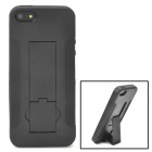 Protective TPU Case with Holder for Iphone 5 - Black