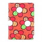 Sunflower Pattern Protective PU Leather Case w/ Sleep + Stand for Ipad MINI - Wine Red + Green