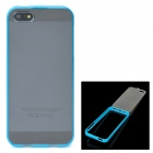 Protective Plastic Case for iPhone 5 - Blue + Transparent