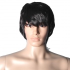 Fashion Fluffy Men's Short Hair Wig - Dark Brown