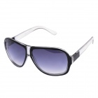 SENLAN 1166 Fashionable UV400 Protection Acetate Fiber Frame PC Lens Sunglasses - Black