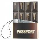 PVC Chocolate Pattern Travel Pass-Halter - Kaffee