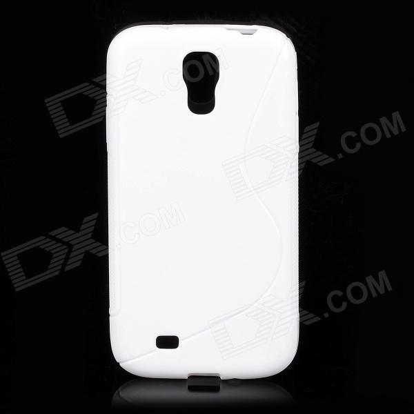 купить S-Line Style Protective TPU Soft Back Case for Samsung Galaxy S4 i9500 - White недорого