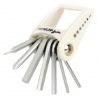 ACACIA Folding Slotted + Cross Head Screwdrivers Repair Tool Set for Bicycle - White