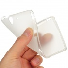 Protective Matte PVC Back Case for Sony Xperia Z / L36H - Translucent White