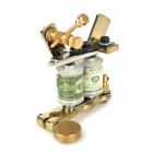 Low-Carbon Steel Handmade Liner and Shader Tattoo Machine - Silver + Golden