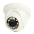 Zhueran ZEA-AFS002 Security Camera w / 8-LED IR Night Version - White + Black + Transparent