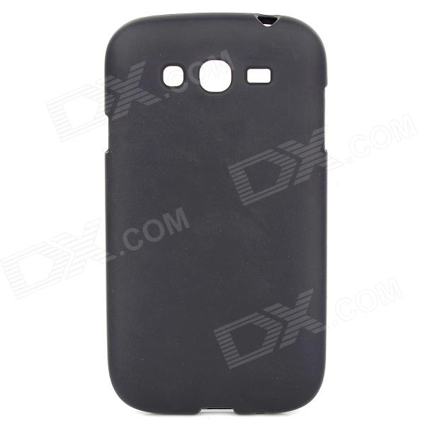 Protective Matte PVC Soft Back Case for Samsung Galaxy Grand i9080 / Duos i9082 - Black protective soft pvc back case for htc sensation xl x315e g21 black