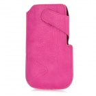 Protective PU Leather Pouch Case for Samsung Galaxy S4 i9500 - Deep Pink
