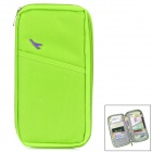 Travel Canvas Zippered Certificate / Card / Passport Bag Holder - Green