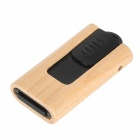 MUT-07 Push Wood Case USB 2.0 Flash Driver - Madera + Negro (16 GB)