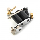 SMART jh-A2004A Cold Rolled Steel Liner and Shader Tattoo Machine Gun - Black + Silver