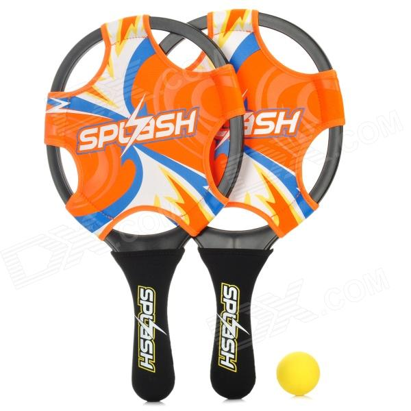 Winmax WMB10606 Splash Sports Beach Bat + Ball Set - Black + Orange