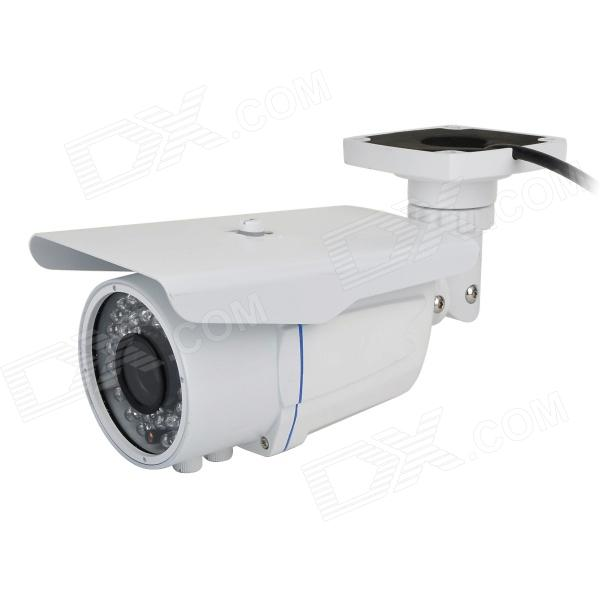 COTIER TV-653W/IP WDR 1.3MP Manual Focus CMOS IP Camera w/ 36-LED IR Night Vision - White