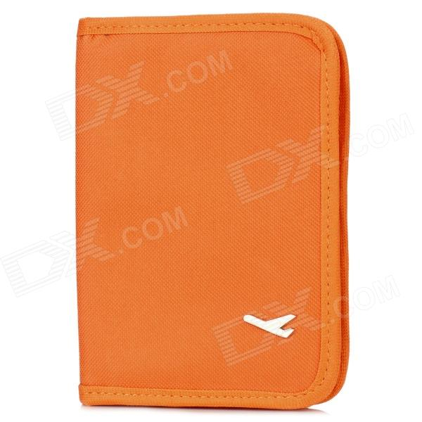 Travel Canvas Certificate / Card / Passport Bag Holder - Orange