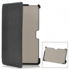 Protective PU Leather Flip-Open Case for Samsung XE500T1C-A01/2/3, XE700T01-A01/2 - Black