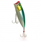 Lifelike Fish Style Plastic Fishing Bait w/ Feather - Golden + Green