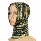 Multifunction Outdoor Sports Bicycle Cycling Seamless Head Scarf - Green + Black