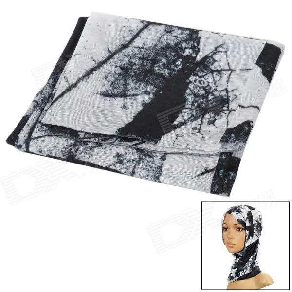 Multifunction Outdoor Sports Bicycle Cycling Seamless Head Scarf - Black + White