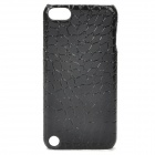 Alligator Pattern Protective PU Leather Case for Ipod Touch 5 - Black