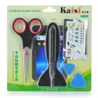 Kaisi 1204 Cellphone Screen Protector Assembling Tools Kit - Black + Brown + Red + Silver + Blue