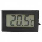 "1.5"" LCD Digital Thermometer w/ Probe - Black"