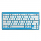 MC-6410 2,4 GHz Mini Wireless 83-Key Keyboard w / Receiver - Blau + Weiß + Silber